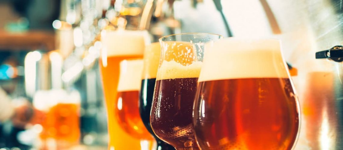 The photo shows a range of beer styles to illustrate a blog about beer tasting