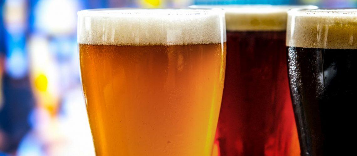 Golden-Amber-Black-beer-pints