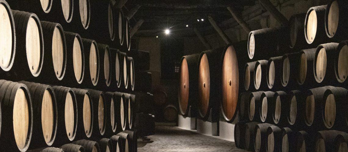 Wine Barrels in a Cave